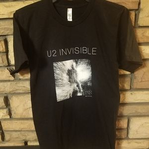 U2 shirt SMALL short sleeve 2014 Tour INVISIBLE